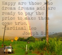 Happy are those who dream dreams and are ready to pay the price to make them come true. - Cardinal Joseph Suenon
