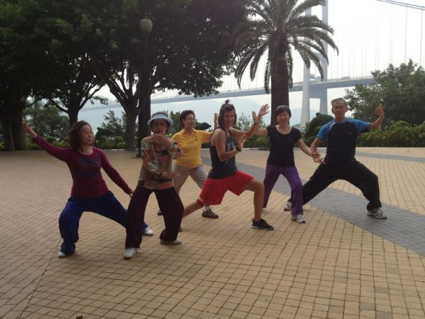 throwback of my very sweet tai chi group in HK. I blended right in;)