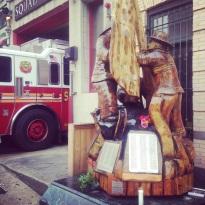 FDNY Squad One 9/11 Memorial Sculpture